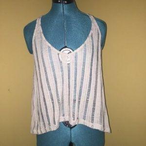 Women's Mumu Mellow Tank Top Shirt Semi Sheer Sz S